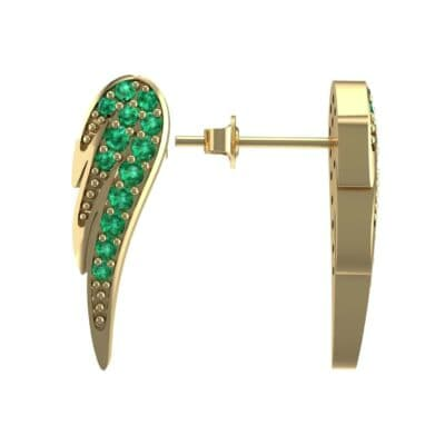 b43f9c69ec2d Angel Wing Emerald Earrings (0.43 Carat) • 18K Yellow Gold Emerald