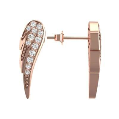 Angel Wing Diamond Earrings (0.34 CTW) Top Dynamic View