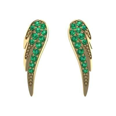 Angel Wing Emerald Earrings (0.43 CTW) Side View