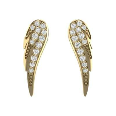 Angel Wing Diamond Earrings (0.34 CTW) Side View