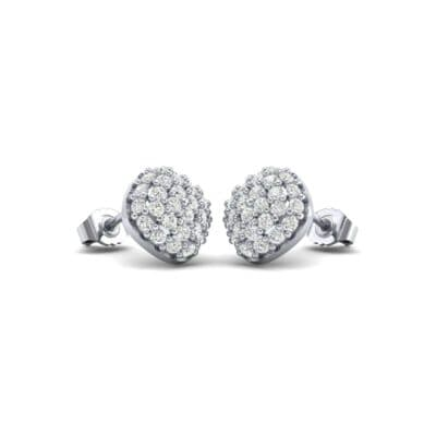 Pave Cushion Diamond Earrings (0.62 CTW) Perspective View
