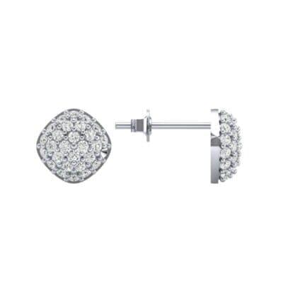 Pave Cushion Diamond Earrings (0.62 CTW) Top Dynamic View