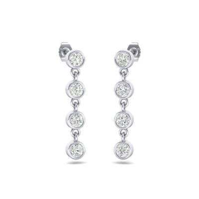 Bezel-Set Four-Stone Diamond Drop Earrings (0.88 Carat)