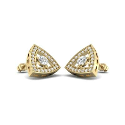 Pave Reuleaux Diamond Earrings (0.97 Carat)