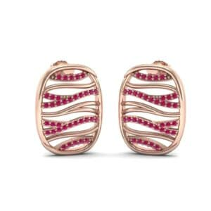 Rivers Ruby Tablet Earrings (0.44 Carat)