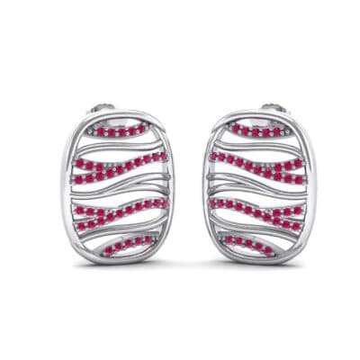 Rivers Ruby Tablet Earrings (0.44 Carat)