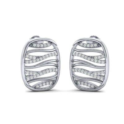 Rivers Diamond Tablet Earrings (0.36 Carat)