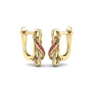 Infinity Twist Ruby Earrings (0.12 Carat)