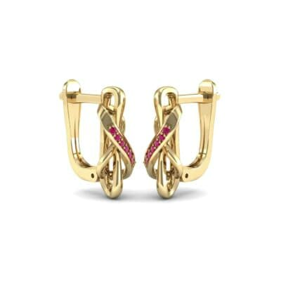 Infinity Twist Ruby Earrings (0.12 CTW) Perspective View