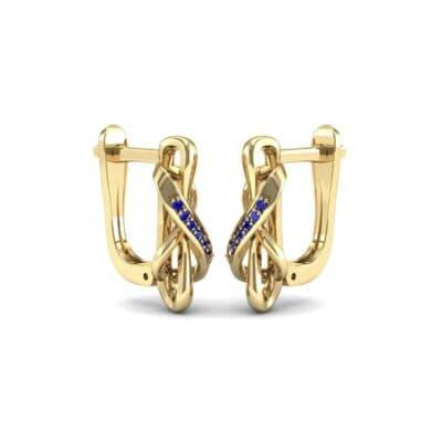 Infinity Twist Blue Sapphire Earrings (0.12 Carat)
