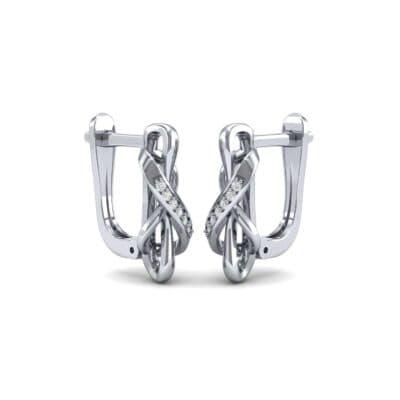 Infinity Twist Diamond Earrings (0.08 CTW) Perspective View