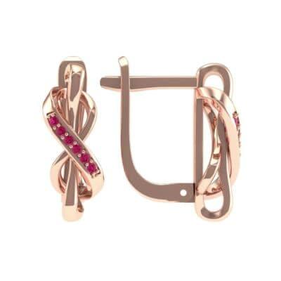 Infinity Twist Ruby Earrings (0.12 CTW) Top Dynamic View