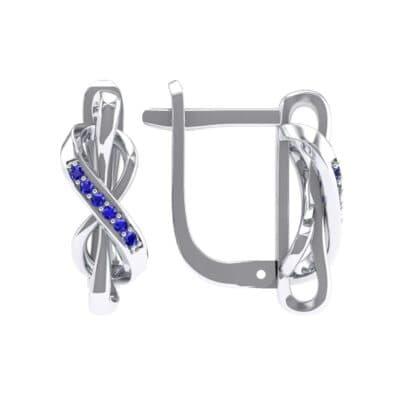 Infinity Twist Blue Sapphire Earrings (0.12 CTW) Top Dynamic View