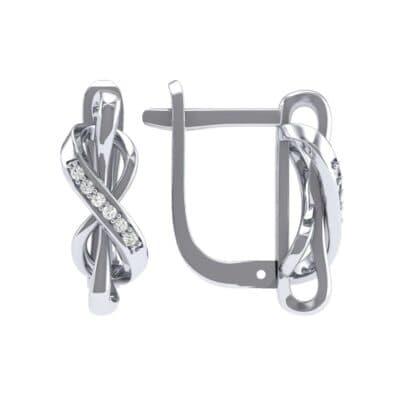 Infinity Twist Diamond Earrings (0.08 CTW) Top Dynamic View
