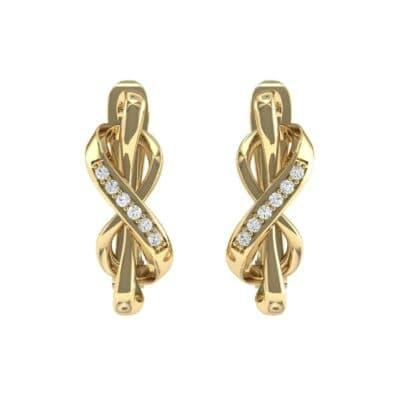 Infinity Twist Diamond Earrings (0.08 CTW) Side View