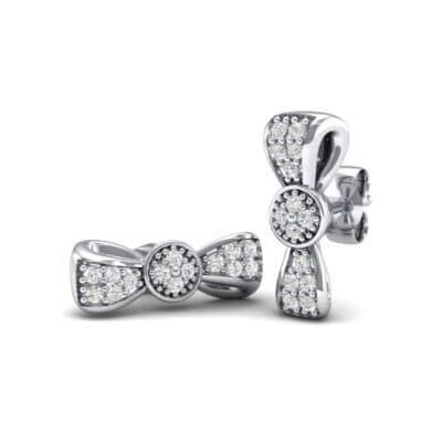 Pave Bow Tie Diamond Earrings (0.31 Carat)