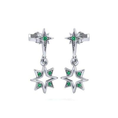 Falling Star Emerald Drop Earrings (0.16 Carat)