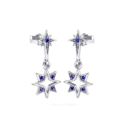Falling Star Blue Sapphire Drop Earrings (0.16 Carat)
