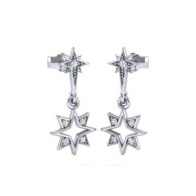 Falling Star Diamond Drop Earrings (0.13 Carat)