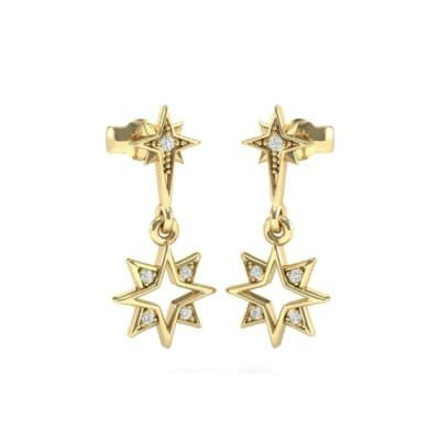 Falling Star Diamond Drop Earrings (0.13 CTW) Perspective View