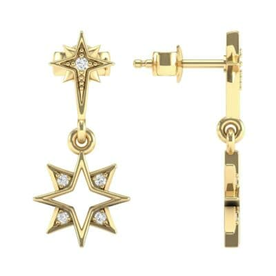Falling Star Diamond Drop Earrings (0.13 CTW) Top Dynamic View