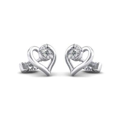 Swirl Heart Diamond Earrings (0.07 Carat)