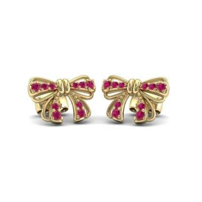 Bow Ruby Earrings (0.29 Carat)