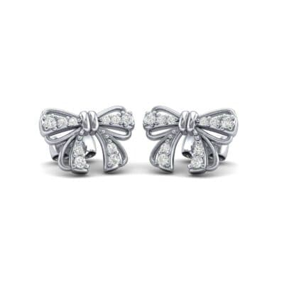Bow Diamond Earrings (0.19 CTW) Perspective View