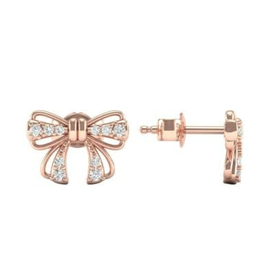 Bow Diamond Earrings (0.19 CTW) Top Dynamic View