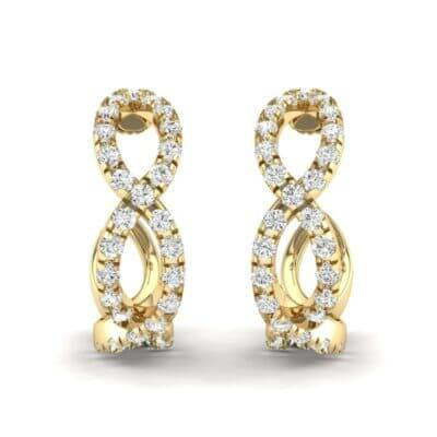Pave Twist Diamond Hoop Earrings (1.13 Carat)