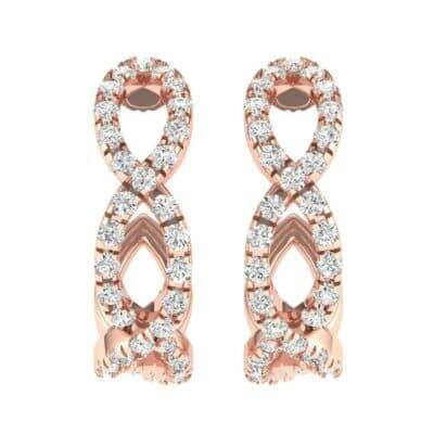 Pave Twist Diamond Hoop Earrings (1.13 CTW) Side View