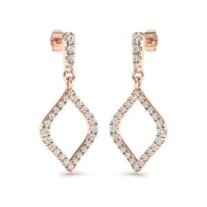 Pave Rhombus Diamond Drop Earrings (0.65 Carat)