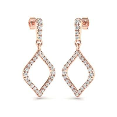 Pave Rhombus Diamond Drop Earrings (0.65 Carat)