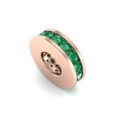 Round-Cut Emerald Spacer Bead (0.32 Carat)