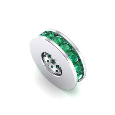 Round-Cut Emerald Spacer Bead (0.32 Carat)