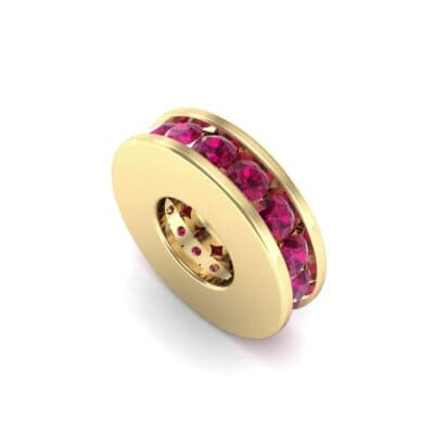 Round-Cut Ruby Spacer Bead (0.32 Carat)