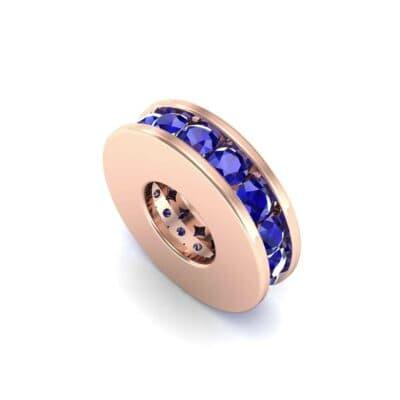 Round-Cut Blue Sapphire Spacer Bead (0.32 Carat)