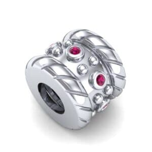 Grooved Tyre Ruby Bead (0.08 Carat)