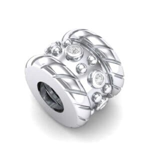 Grooved Tyre Diamond Bead (0.06 Carat)