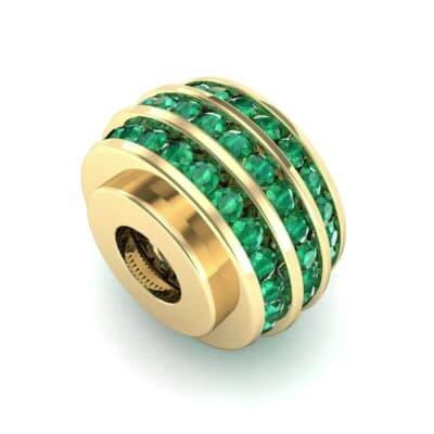 Three-Row Channel-Set Emerald Bead (1 Carat)