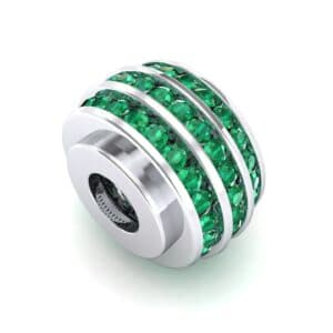 Three-Row Channel-Set Emerald Bead (1 Carat)