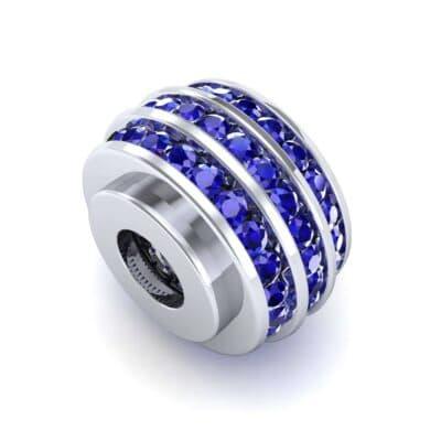 Three-Row Channel-Set Blue Sapphire Bead (1 Carat)