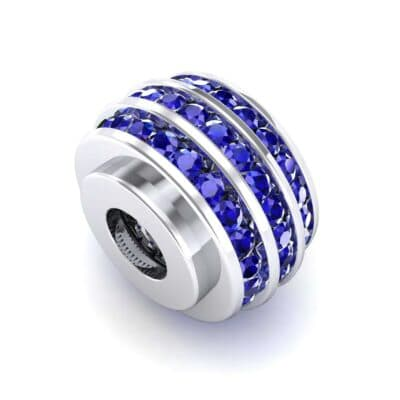 Three-Row Channel-Set Blue Sapphire Bead (1 Carat)