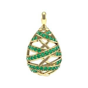 Crisscross Emerald Pendant (2.3 Carat)
