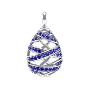 Crisscross Blue Sapphire Pendant (2.3 Carat)