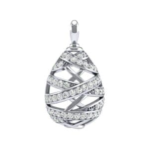 Crisscross Diamond Pendant (1.25 Carat)