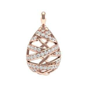 Crisscross Diamond Pendant (1.25 Carat)