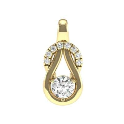 Pave Knot Diamond Solitaire Pendant (0.61 Carat)