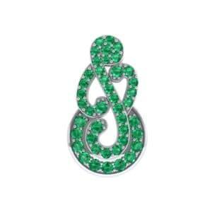 Pave Clef Emerald Pendant (2.09 Carat)