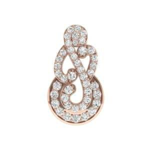 Pave Clef Diamond Pendant (1.01 Carat)
